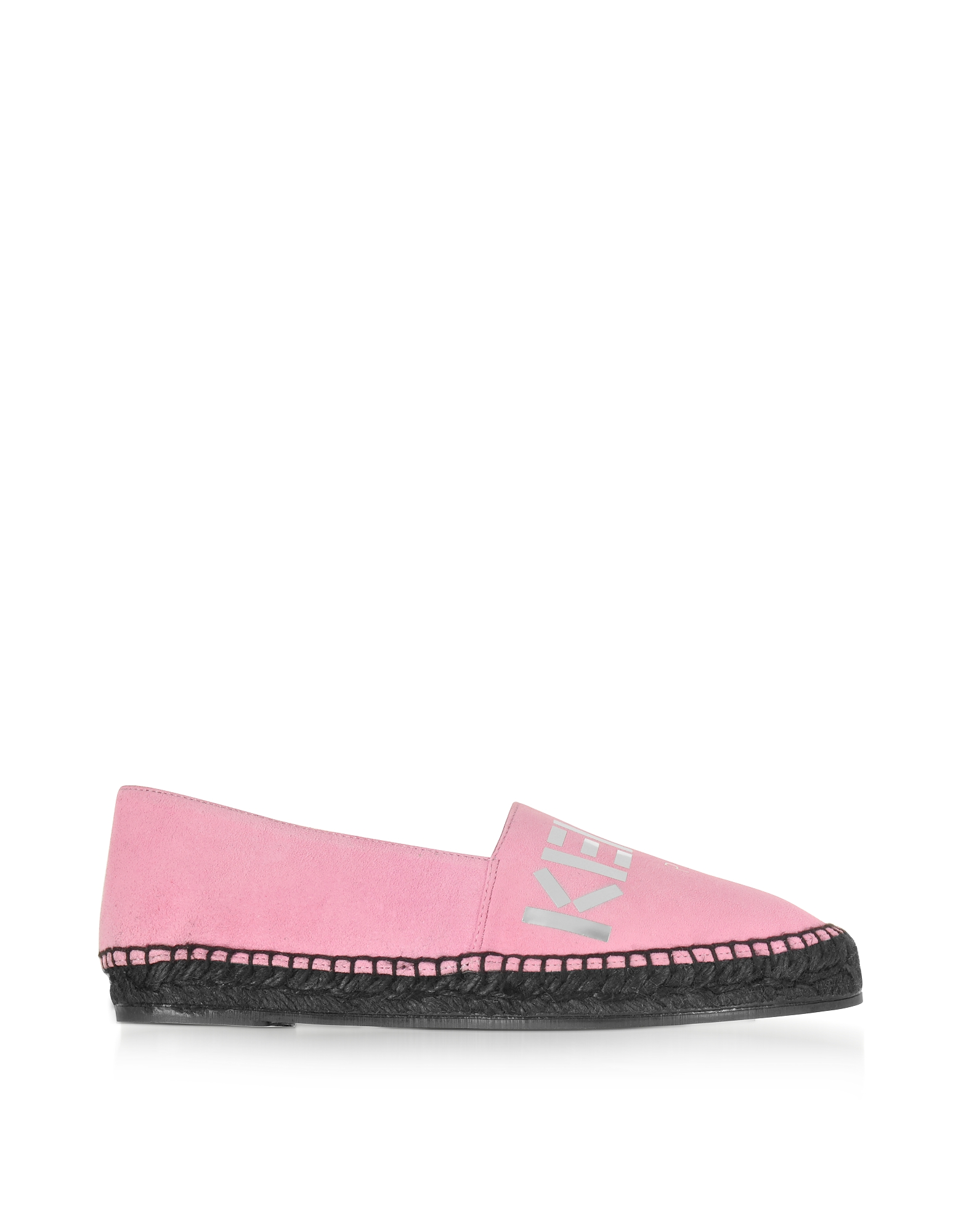 Kenzo Shoes, Light Rose Suede Kenzo Mirrored Espadrilles