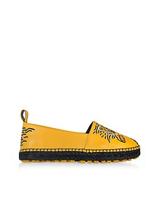 Sunflower Yellow Leather Tiger Espadrilles - Kenzo