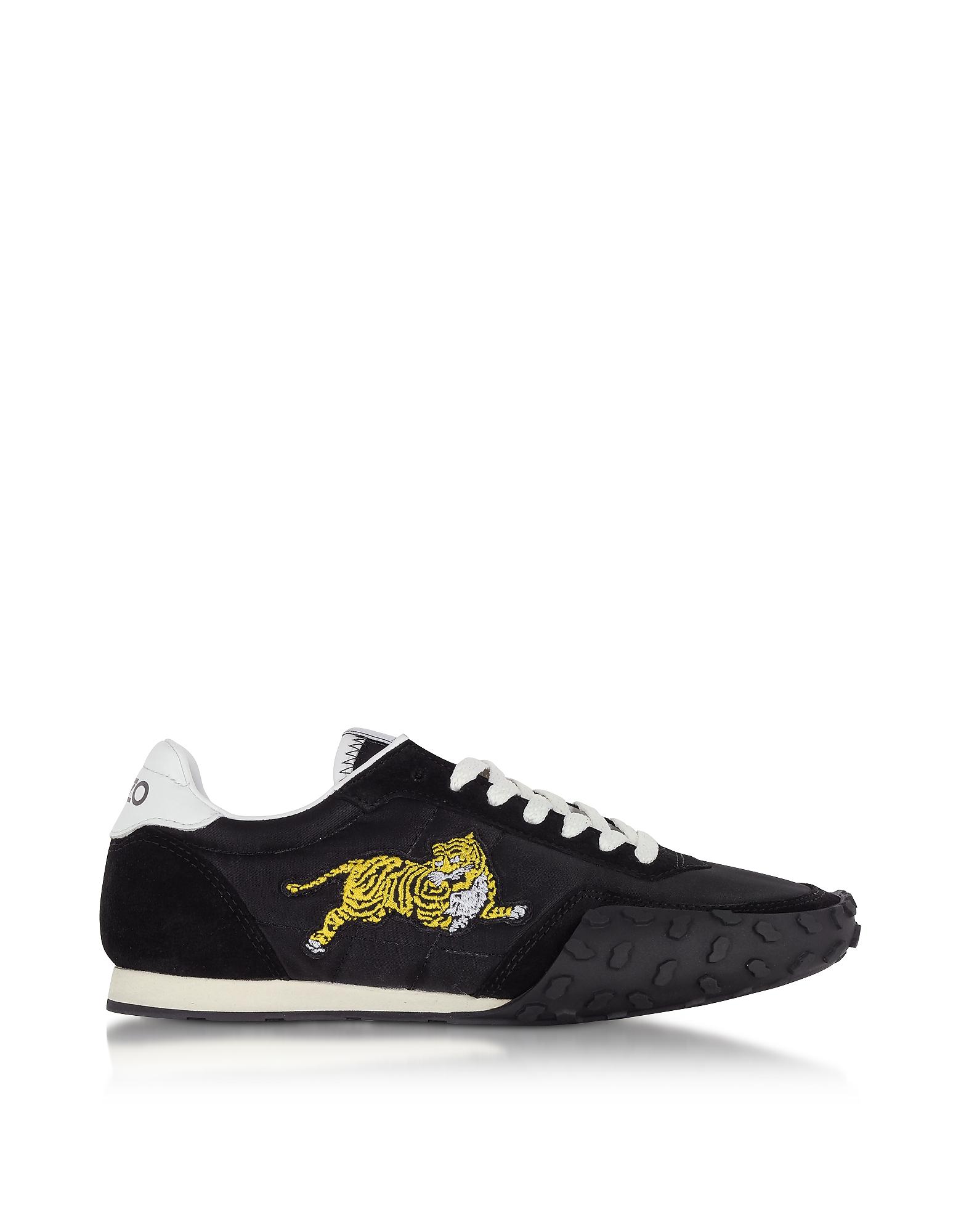 Kenzo Shoes, Black Nylon Kenzo Move Women's Sneakers