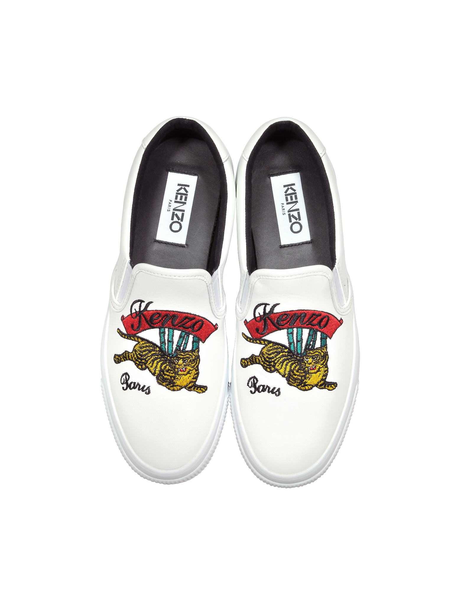 Kenzo Shoes, K-Skate Jumping Tiger Slip on Sneakers