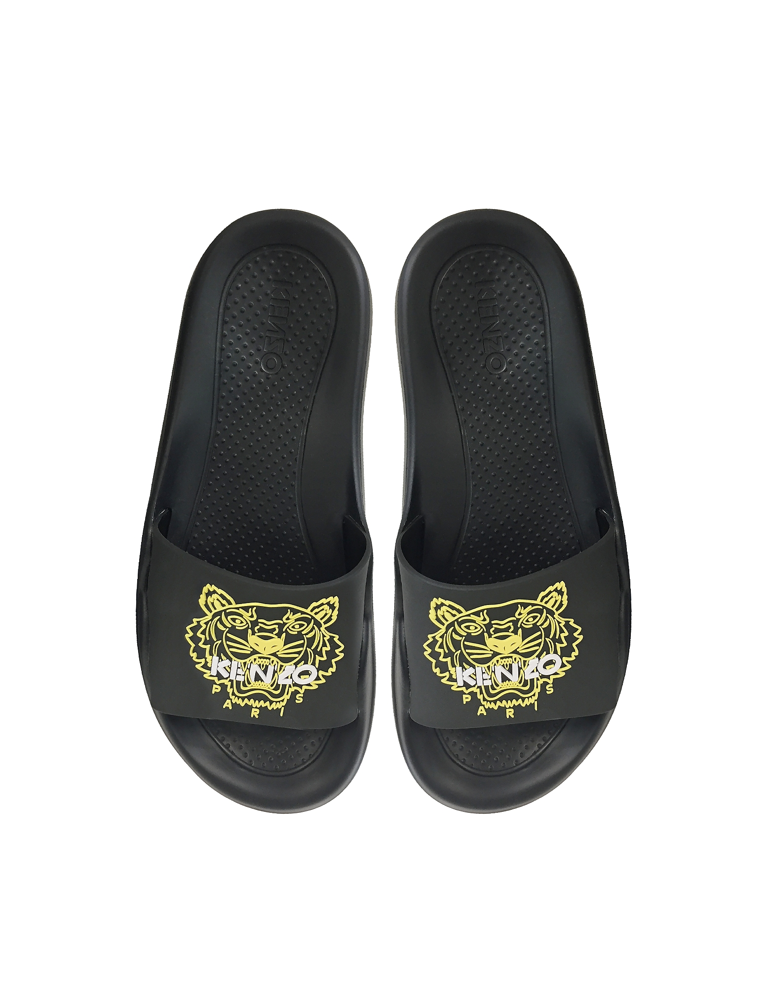 Kenzo Shoes, Black Tiger Women's Flat Sandals