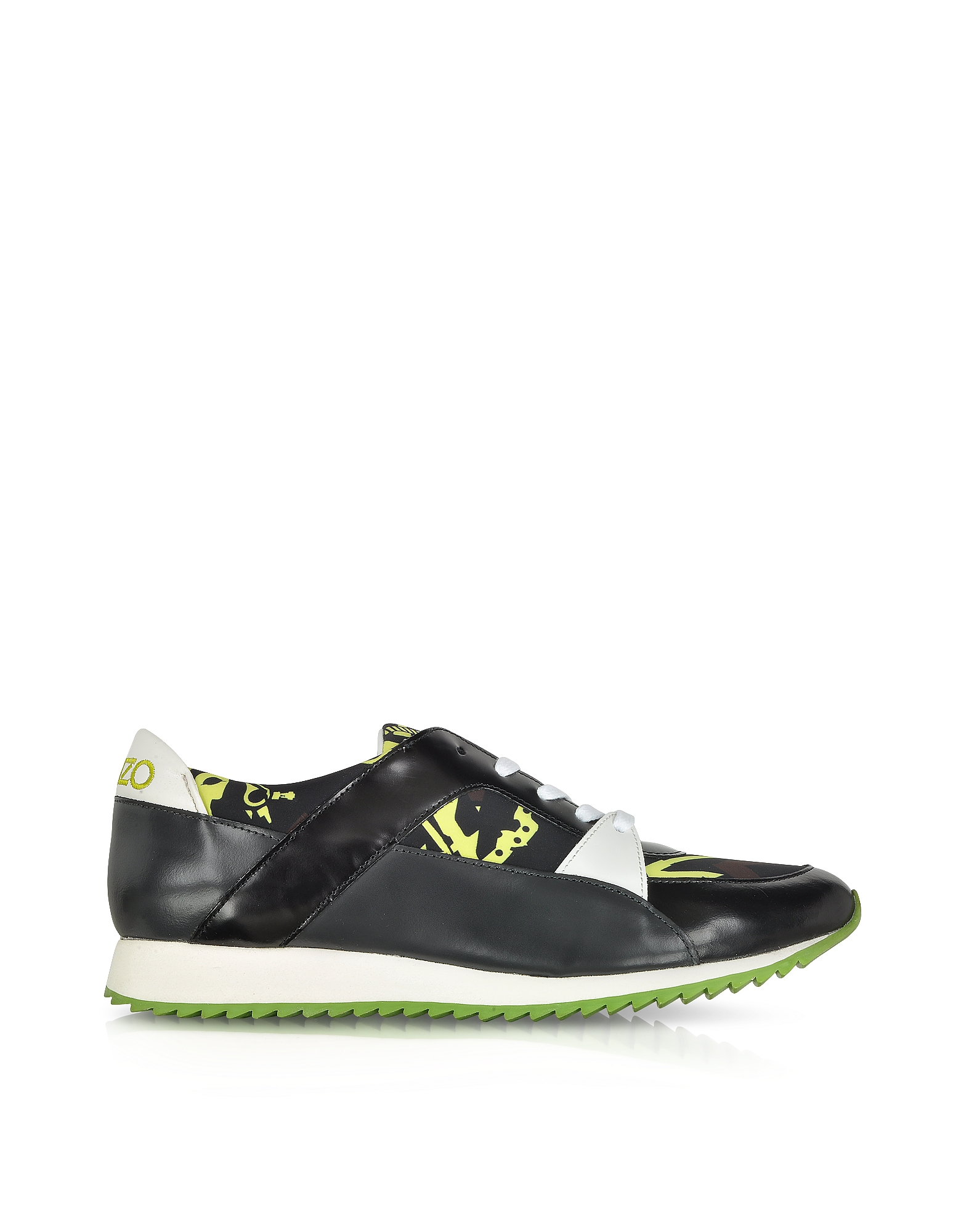 Kenzo Shoes, Monsters Leather and Nylon Sneaker