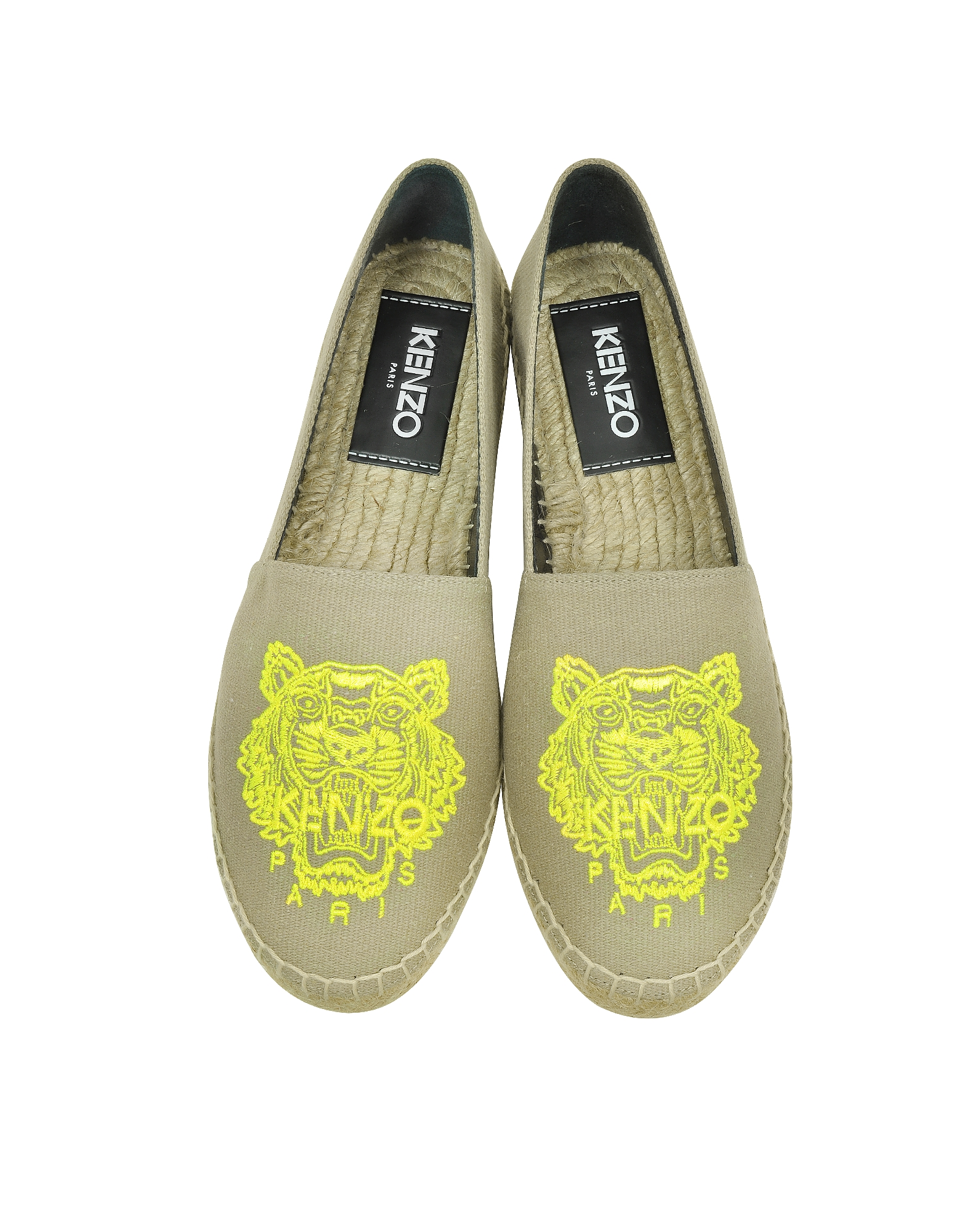 Beige Cotton Tiger Espadrille от Forzieri INT