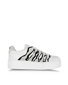 White Leather Platform Sneaker - Kenzo