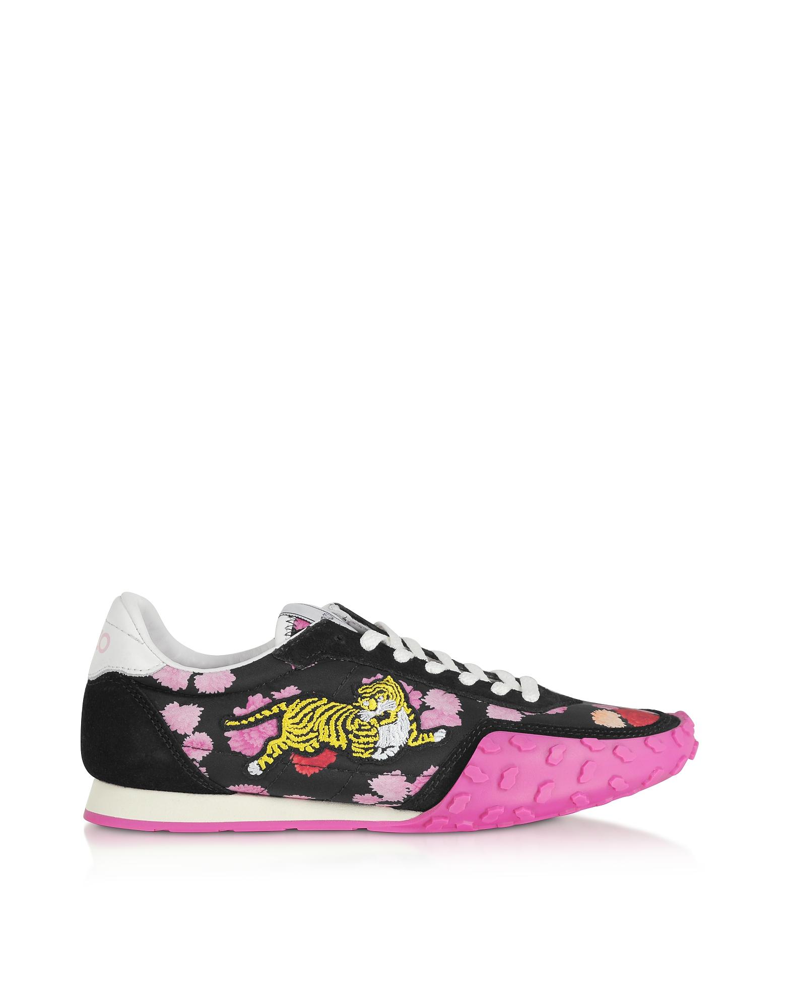 Black and Fuchsia Kenzo Move Women's Sneakers