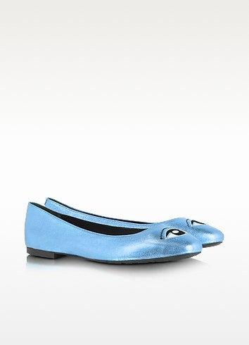 Metallic Blue Eye Ballerina Flat - Kenzo