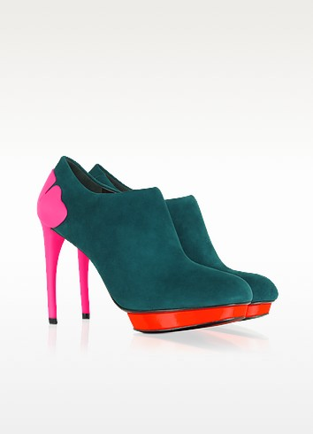 Primula - Suede Flower Heeled Bootie - Kenzo