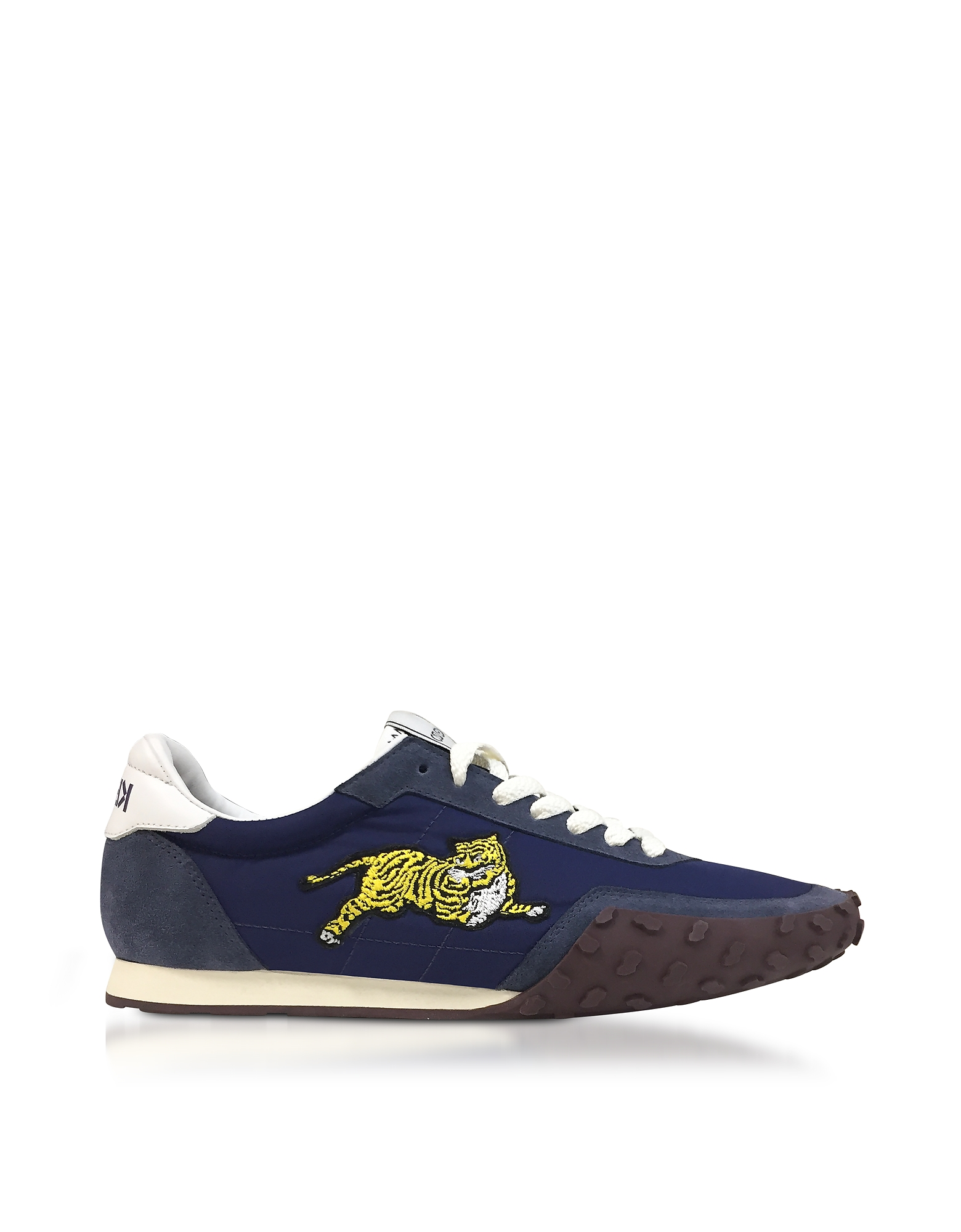 Kenzo Shoes, Navy Blue Nylon and Suede Kenzo Move Men's Sneakers