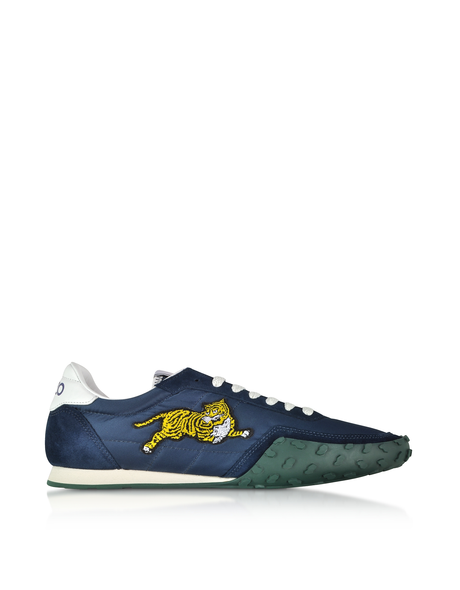 Navy Blue Nylon and Suede Kenzo Move Men's Sneakers