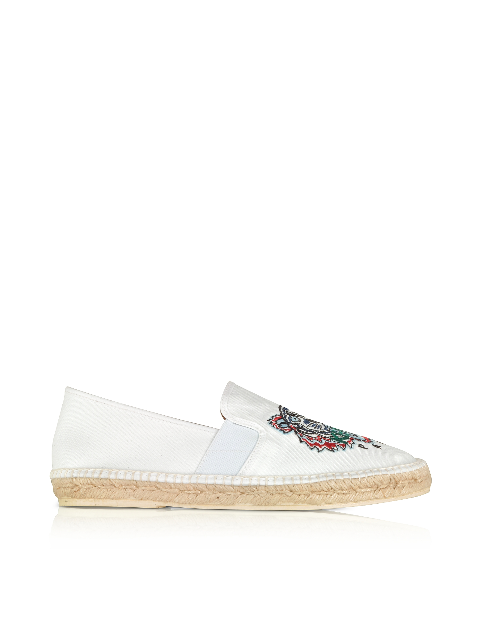 Kenzo Shoes, Optic White Tiger Men's Espadrillas