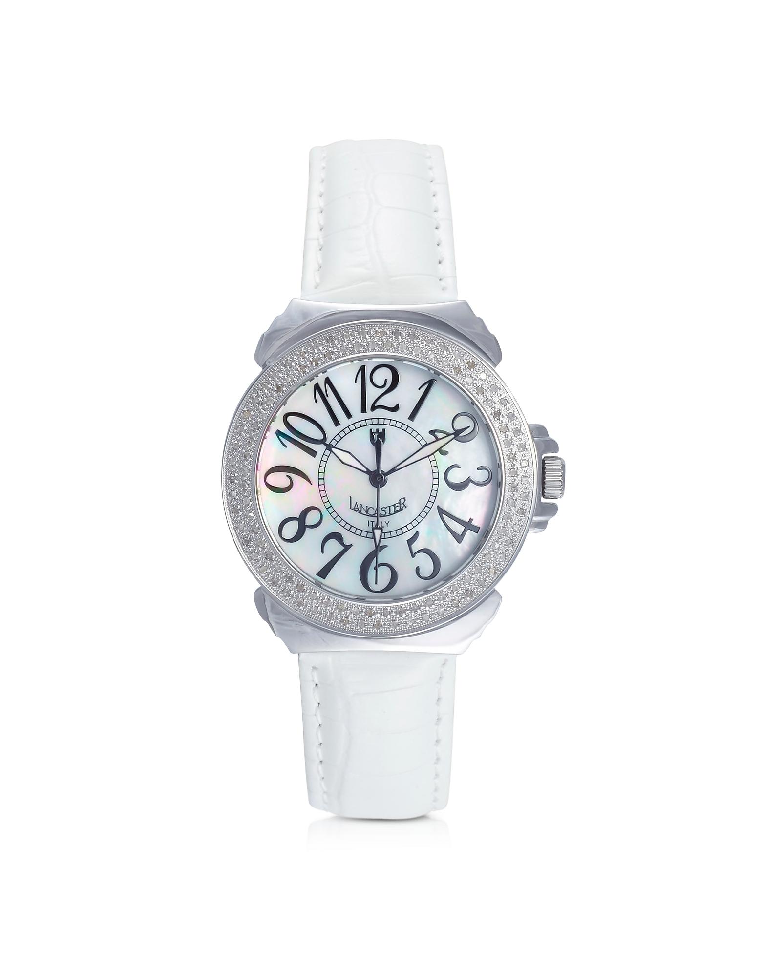 Pillola- Женские Часы с Бриллиантами на Кожаном Ремешке