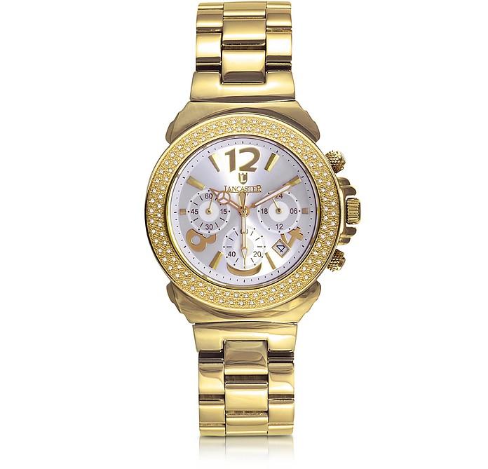 Pillo Chronograph Yellow Gold Bracelet Women's Watch - Lancaster