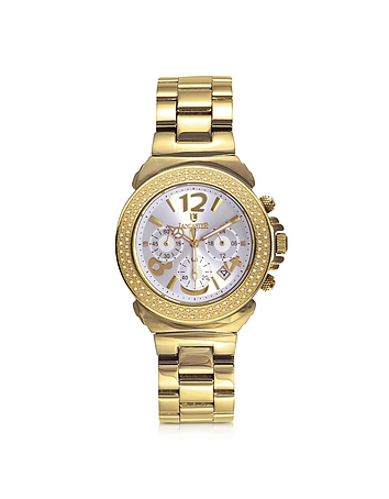 Pillo Chronograph Yellow Gold Bracelet Women's Watch