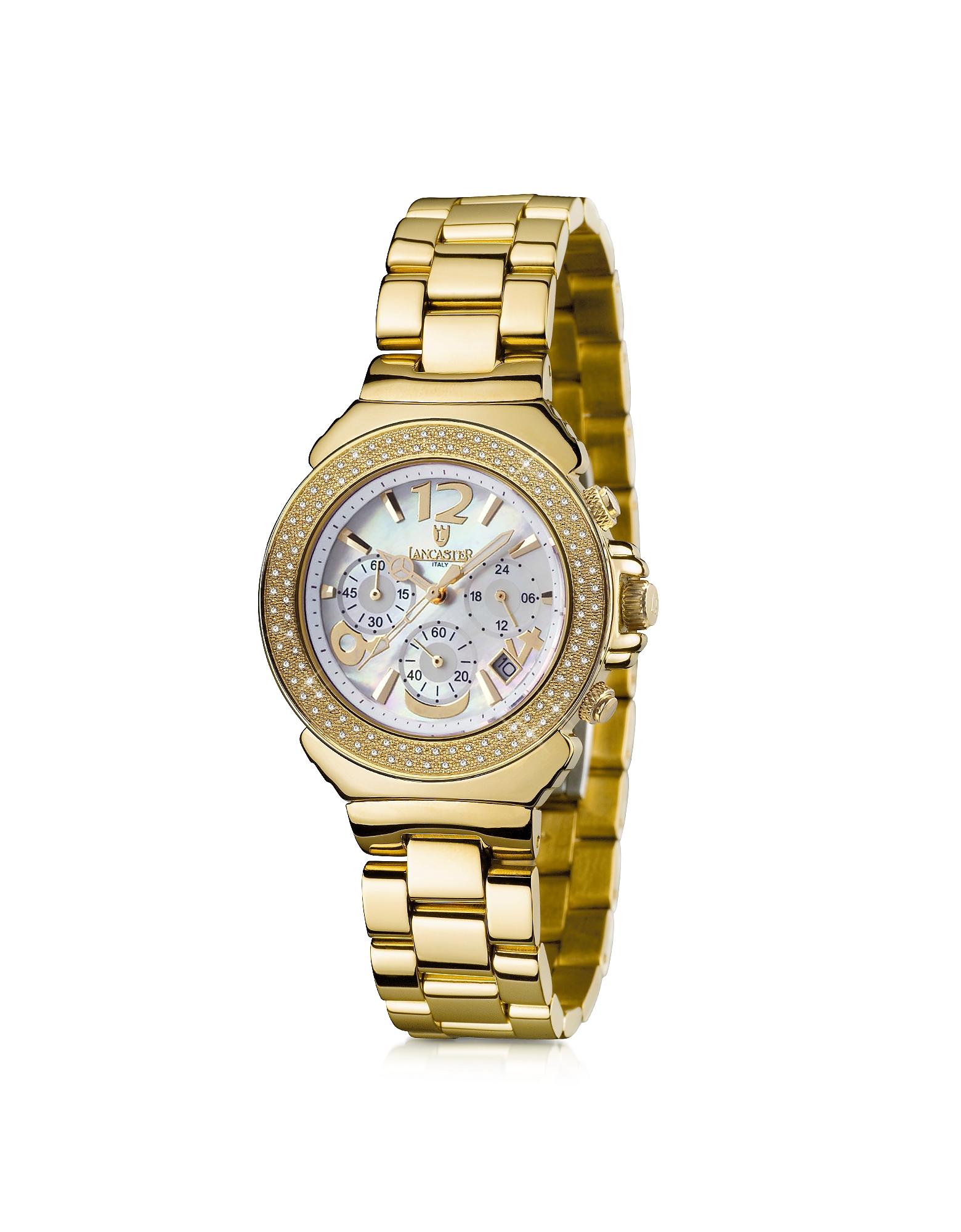 Pillo Chronograph Yellow Gold Bracelet Women's Watch от Forzieri INT