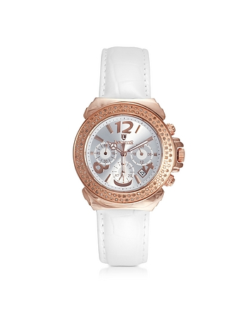 Pillo Chrono Rose' Stainless Steel and Lether Women's Watch