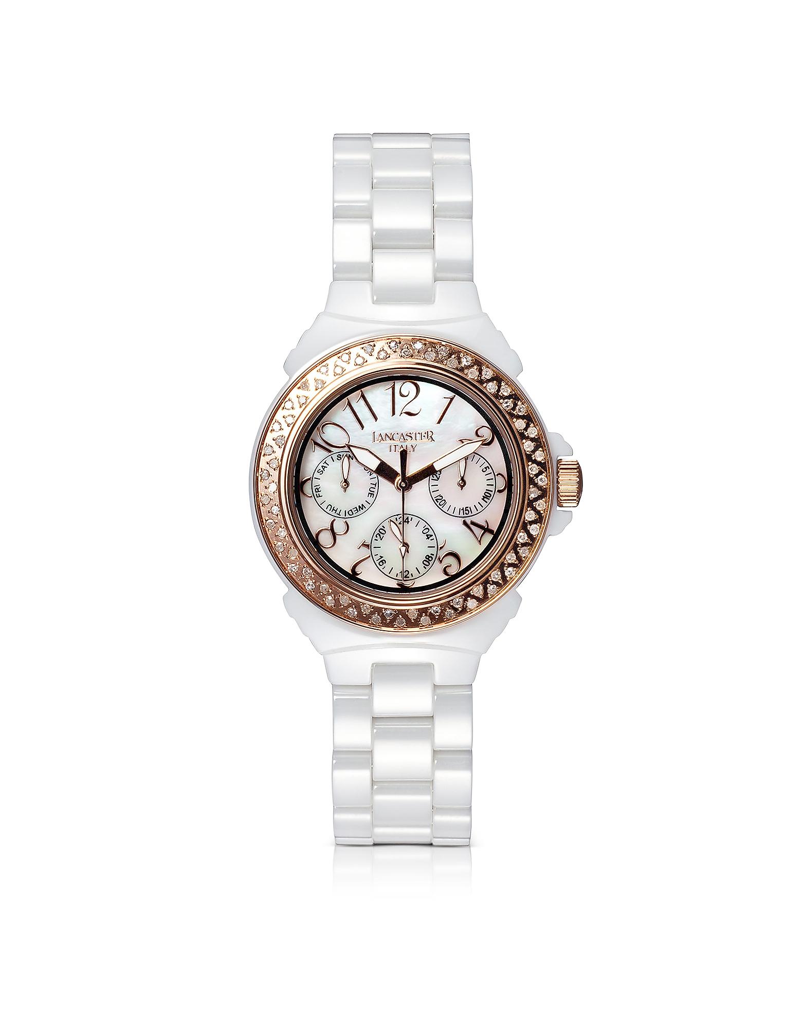 Orologio Lady Ceramic Bianco con Diamanti