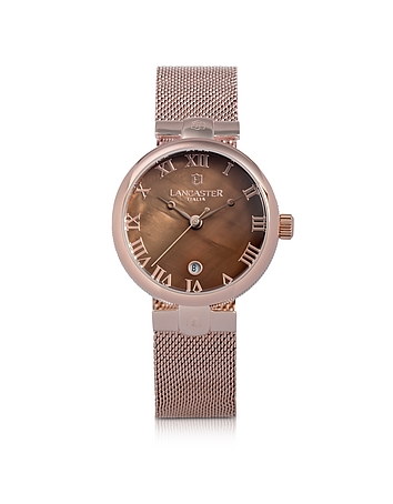 Chimaera Rose Gold Stainless Steel Watch w/Brown Dial