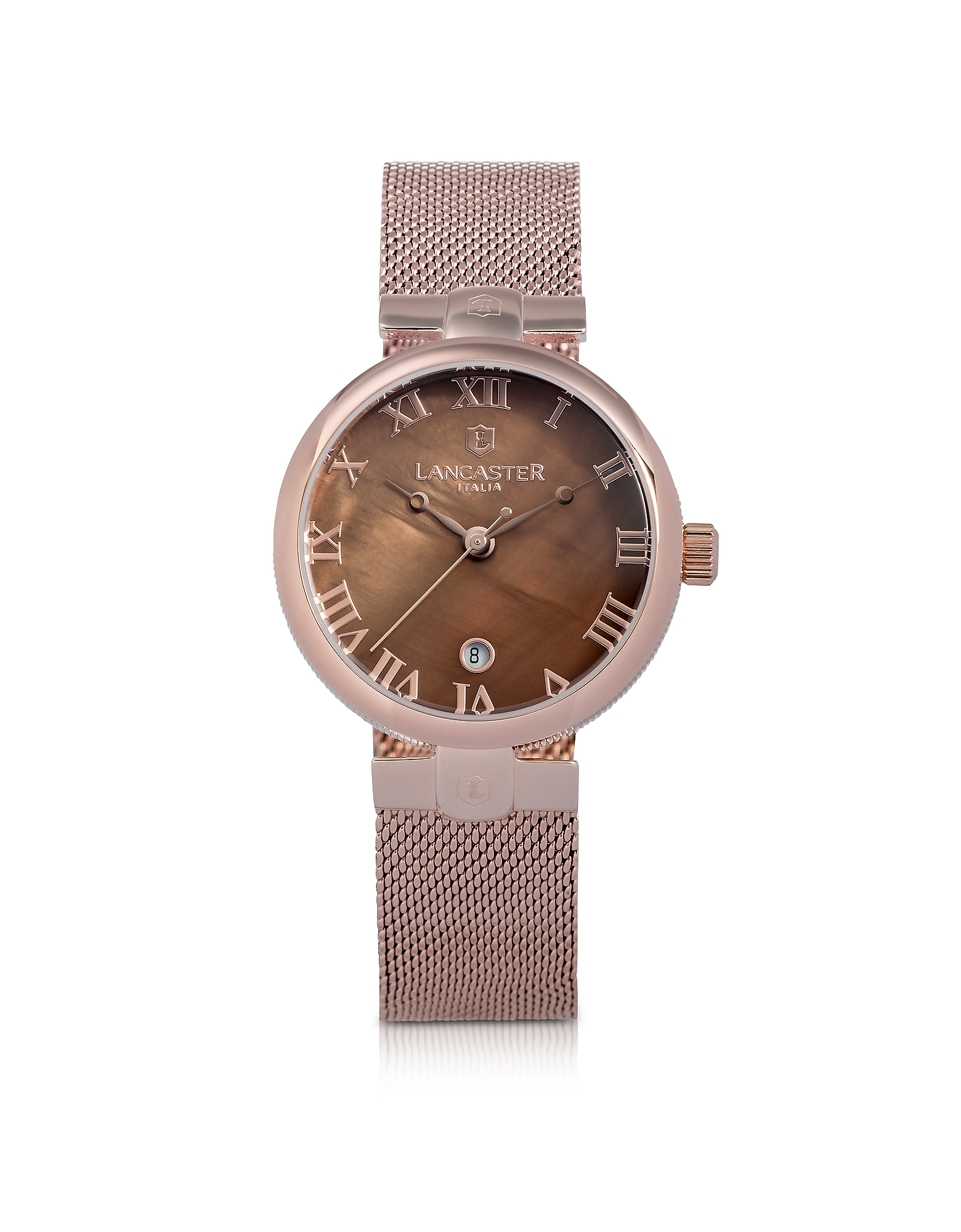 Lancaster Women's Watches, Chimaera Rose Gold Stainless Steel Watch w/Brown Dial