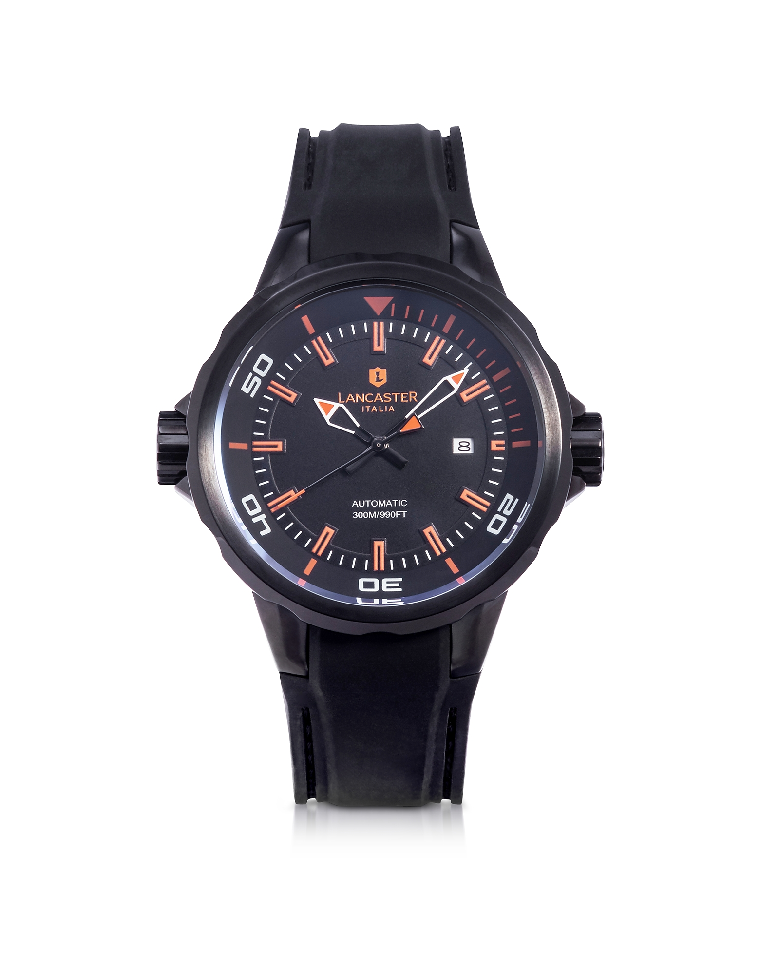 Lancaster Men's Watches, Space Shuttle Automatic Stainless Steel and Silicon Men's Watch