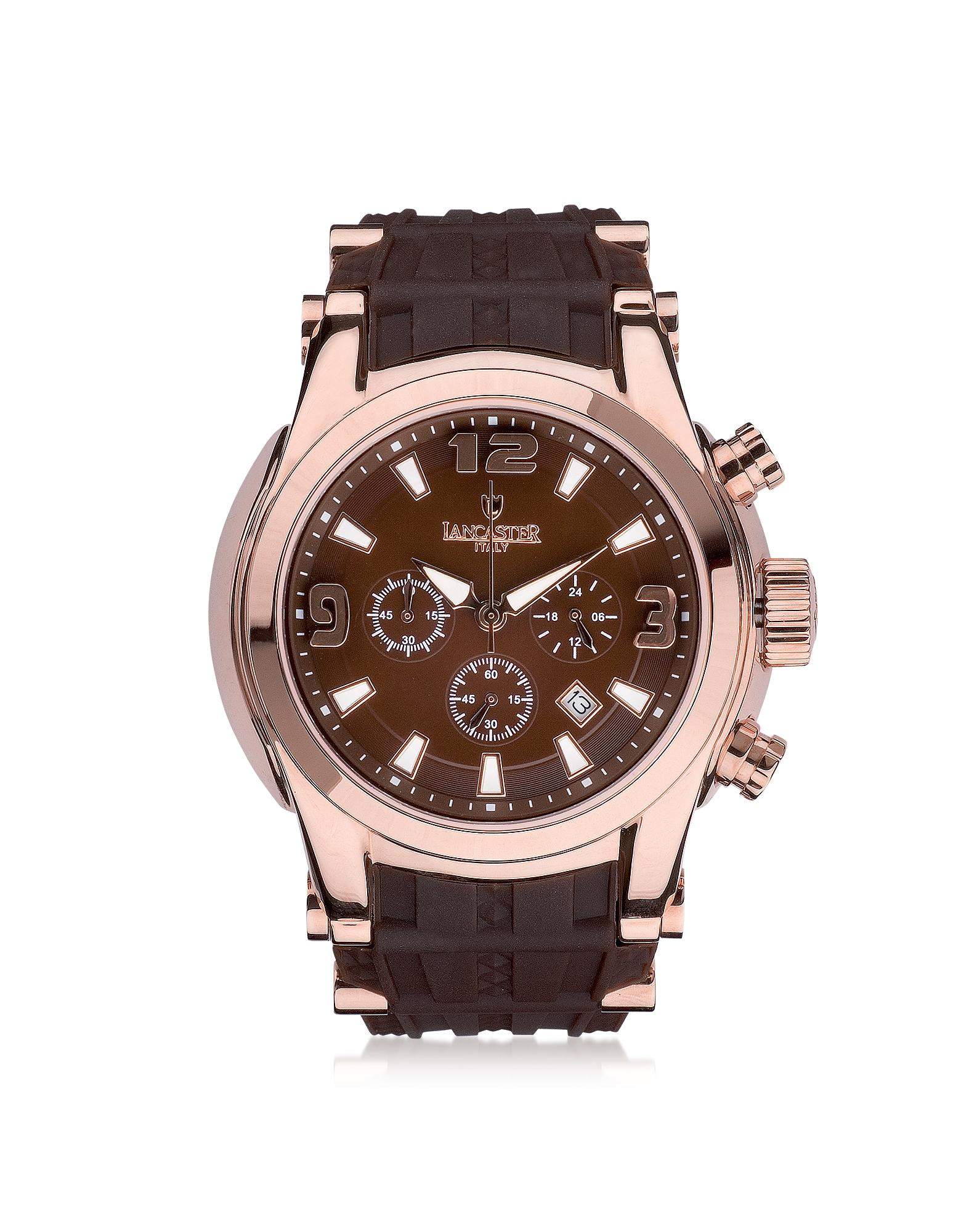 Lancaster Bongo - Мужские Часы Хронограф из Нержавеющей Стали на Резиновом Ремешке