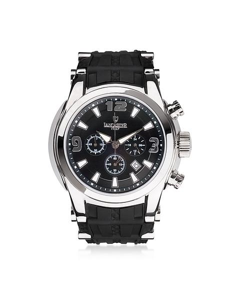 Foto Lancaster Bongo Chrono Orologio da Uomo in Acciaio con Cronografo e Cinturino in Gomma Orologi Uomo