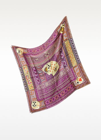 Mosaic Play - Multicolor Silk Square Scarf - Christian Lacroix