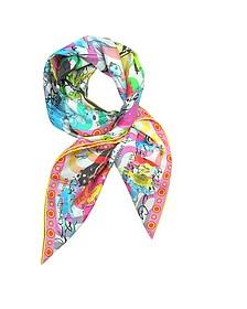 Ipanema Girl Print Silk Square Scarf - Christian Lacroix