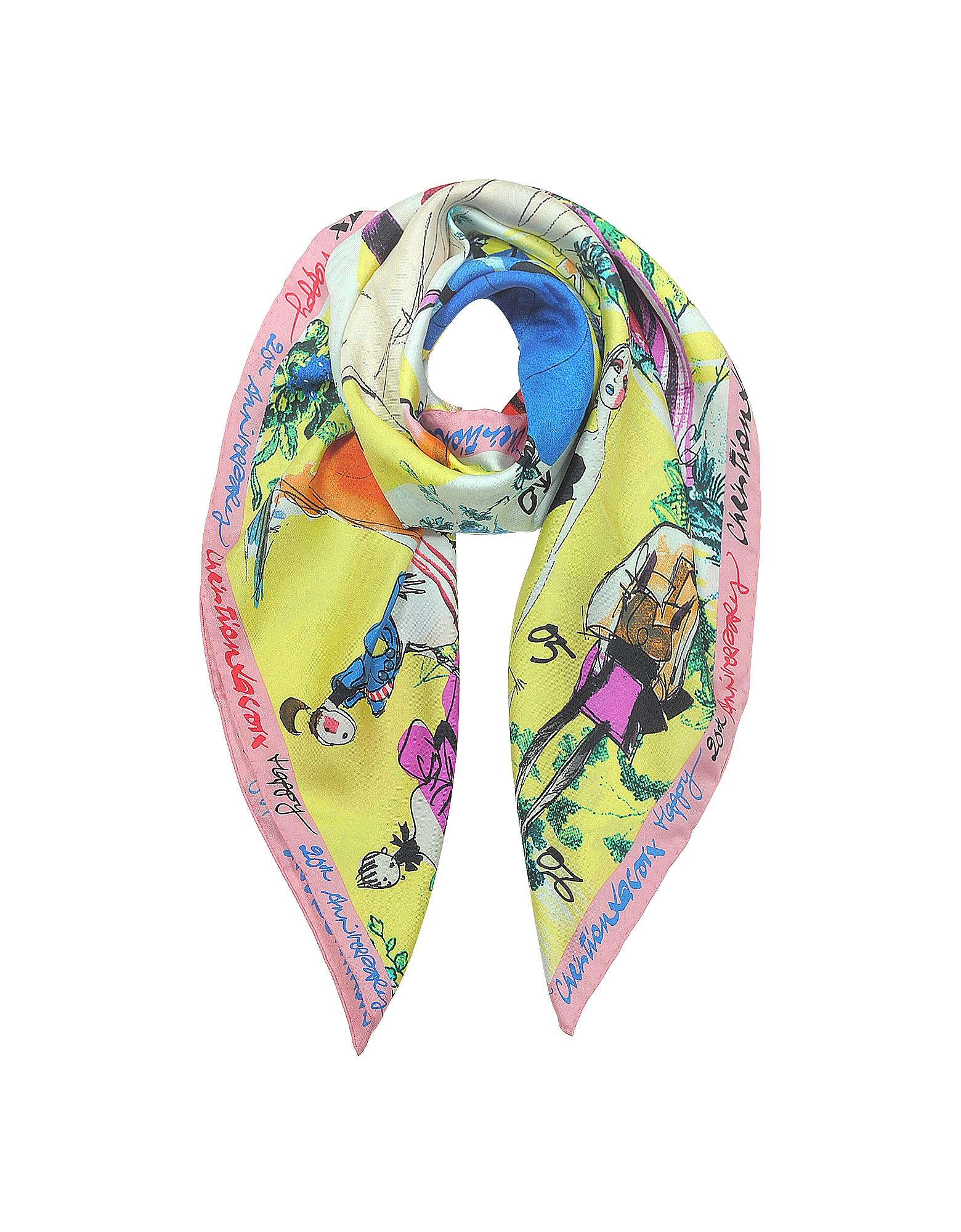 20 Ans Foulard in Seta Multicolor