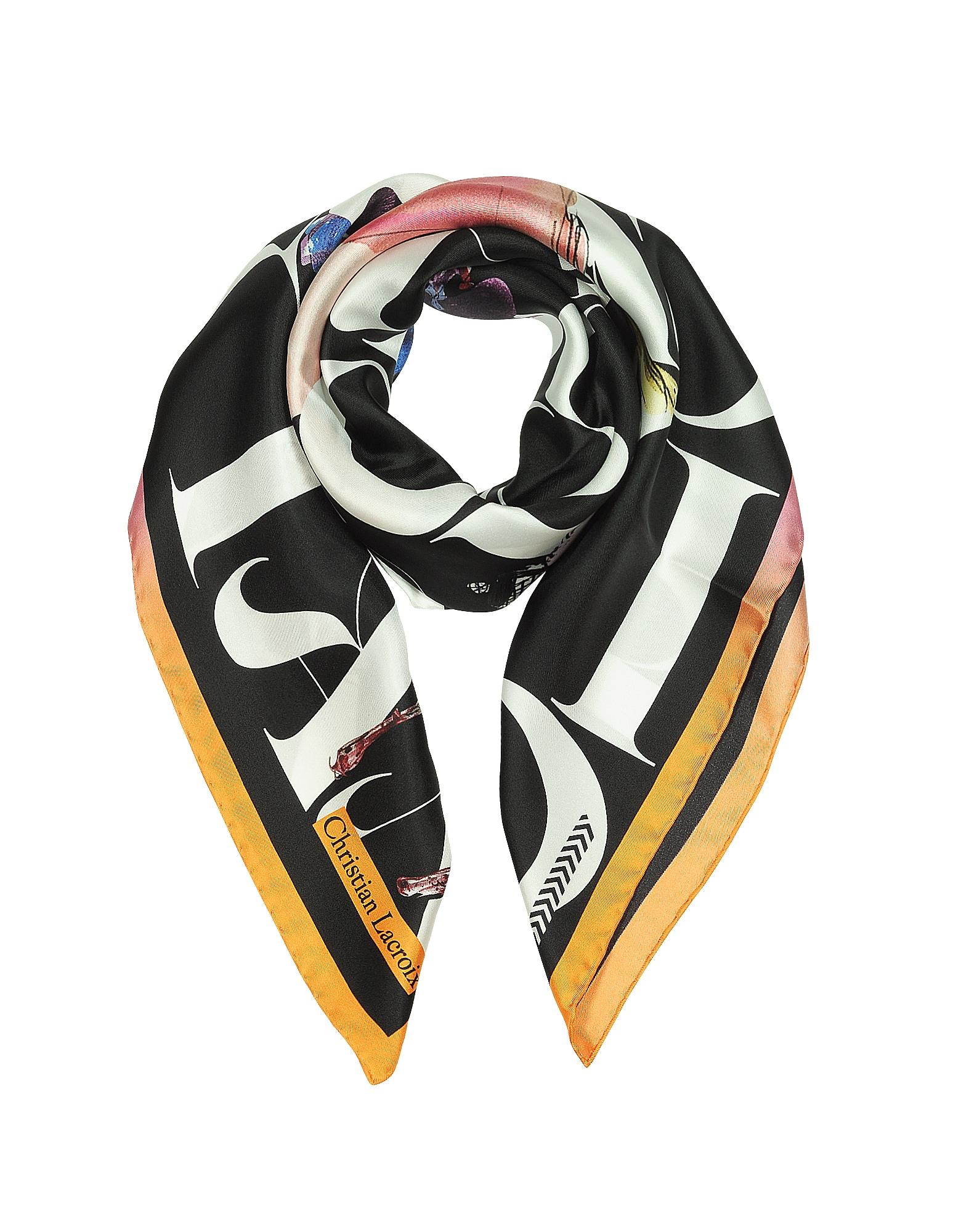 Lacroix Parade Printed Silk Scarf