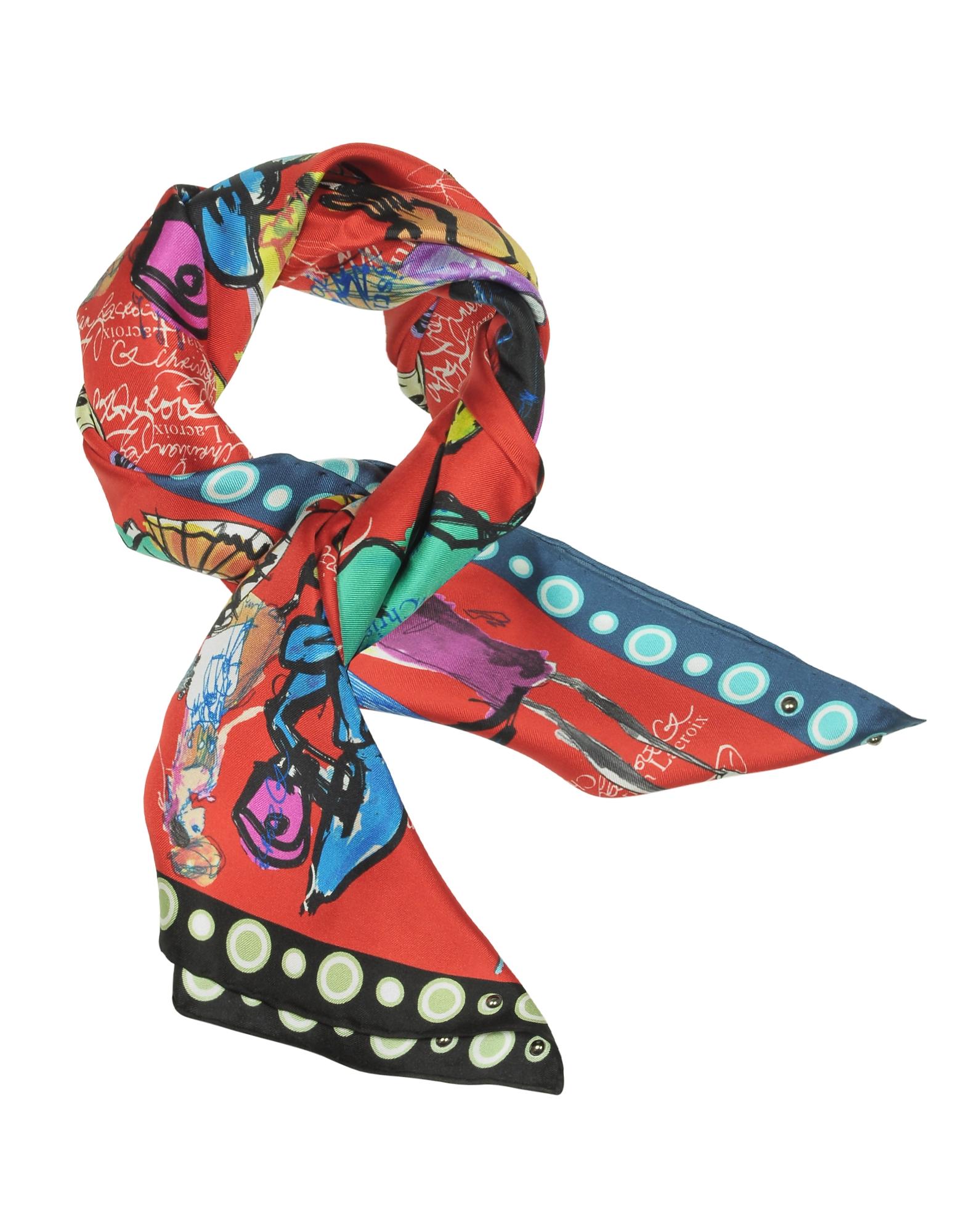Croquis Printed Silk Scarf