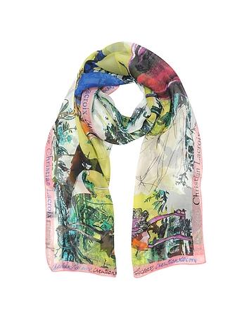 Christian Lacroix - Defil Printed Chiffon Silk Stole