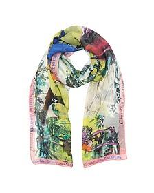 Defilé Printed Chiffon Silk Stole - Christian Lacroix
