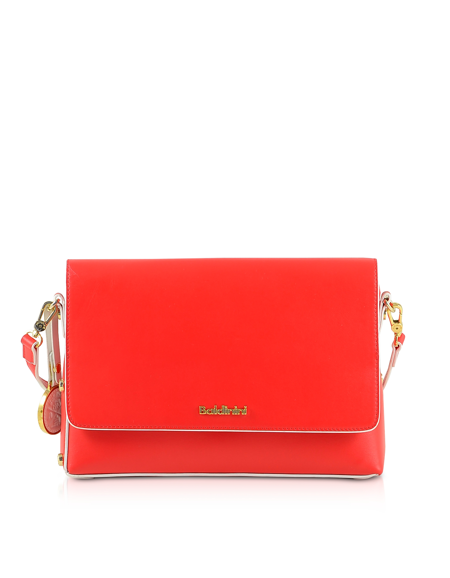 Baldinini Designer Handbags, Red Eco-Leather Shoulder Bag