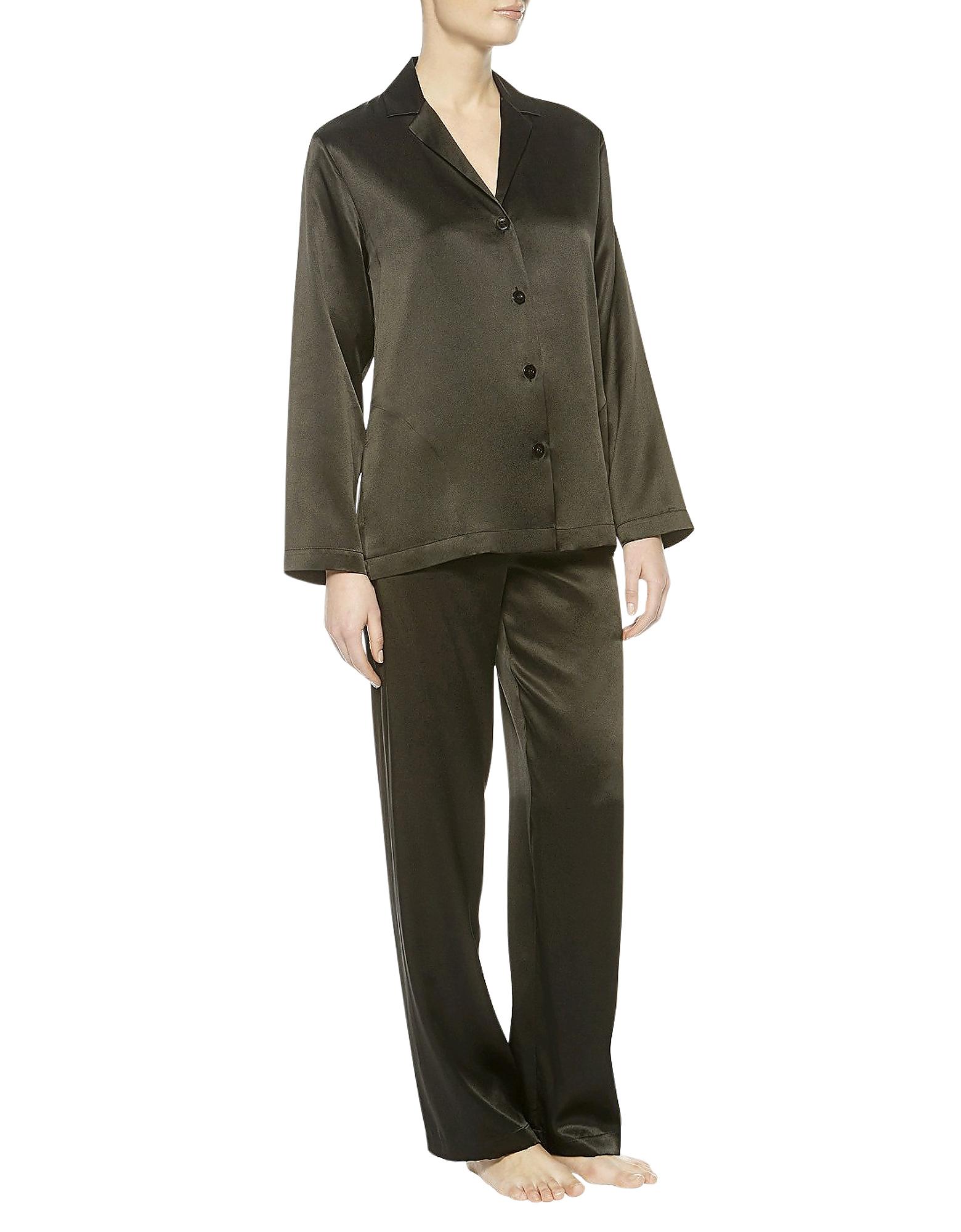 Iconic Black Silk Pajamas