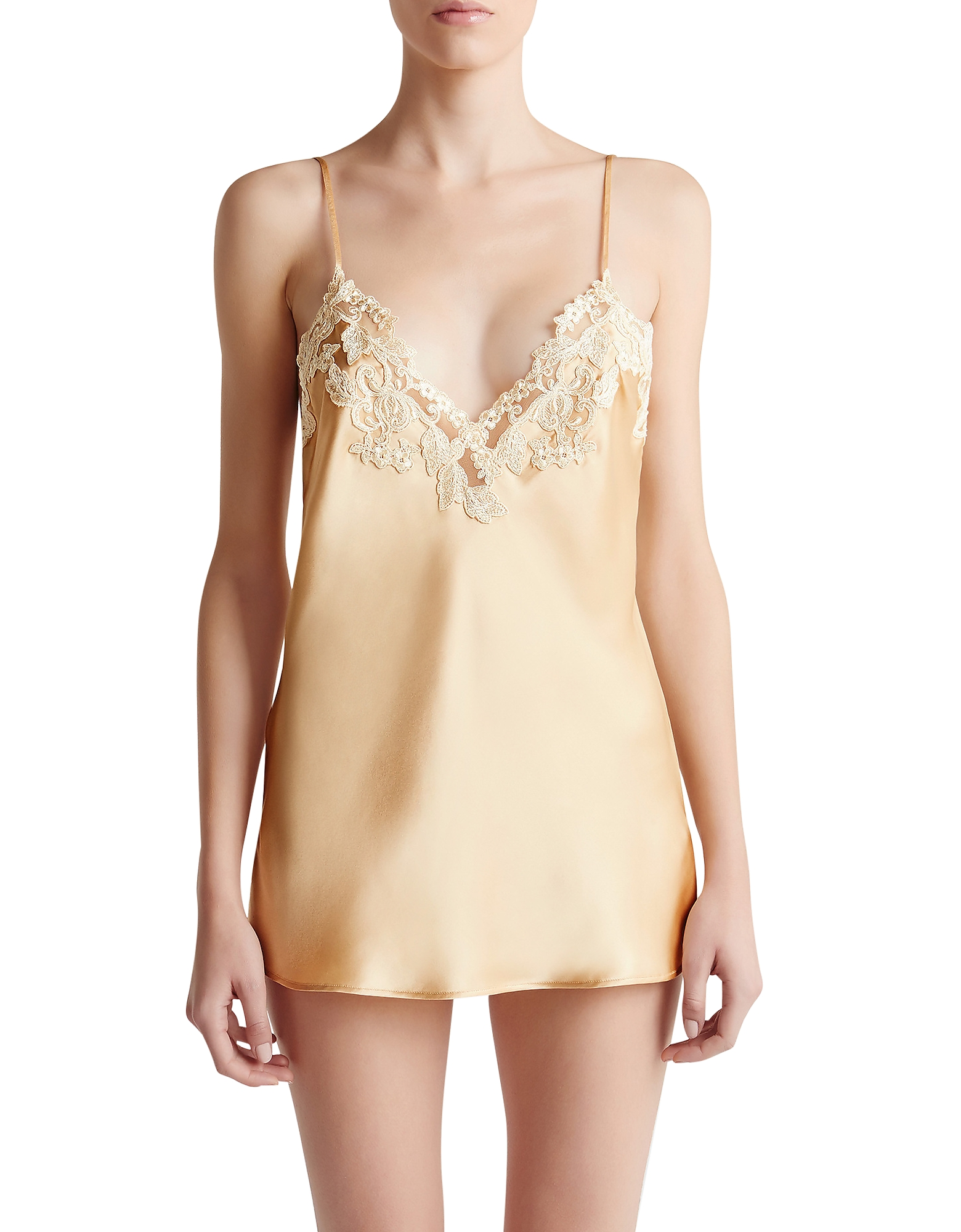 La Perla Tops, Maison Beige Silk Satin Top
