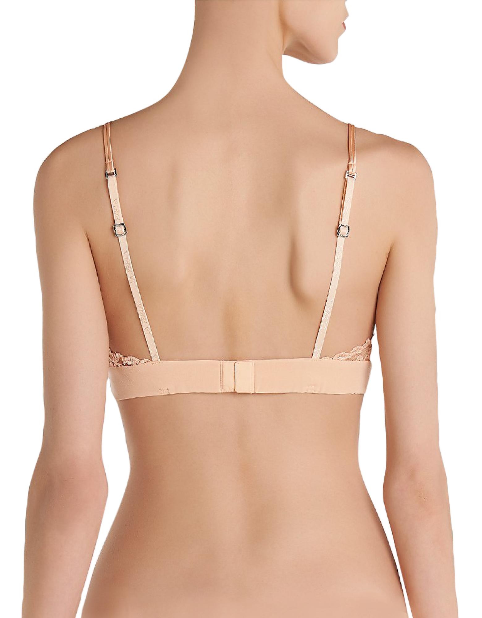 Azalea Peach Leavers Lace and Silk Georgette Triangle Bra от Forzieri.com INT