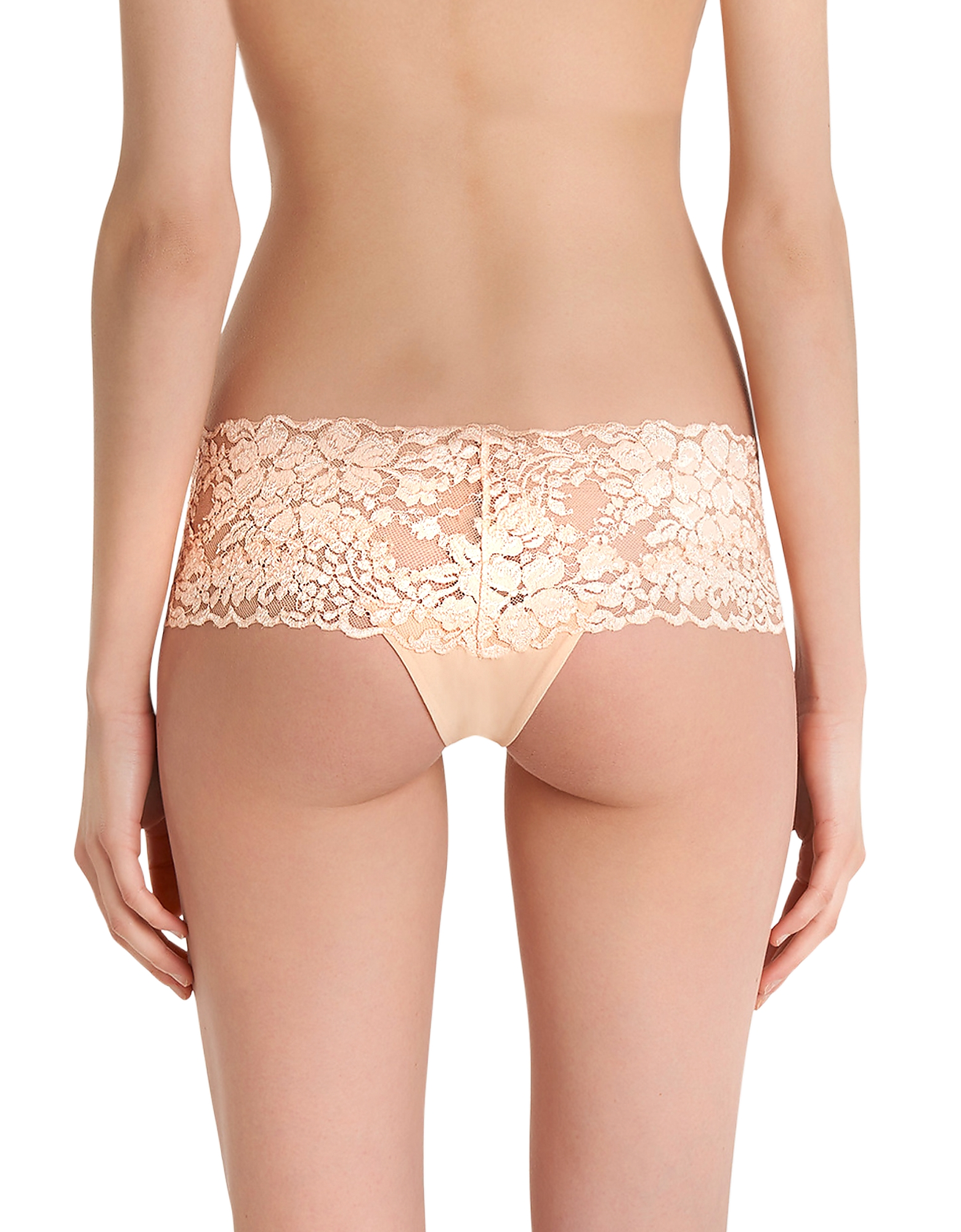 Azalea Peach Leavers Lace and Silk Georgette Shorts от Forzieri.com INT