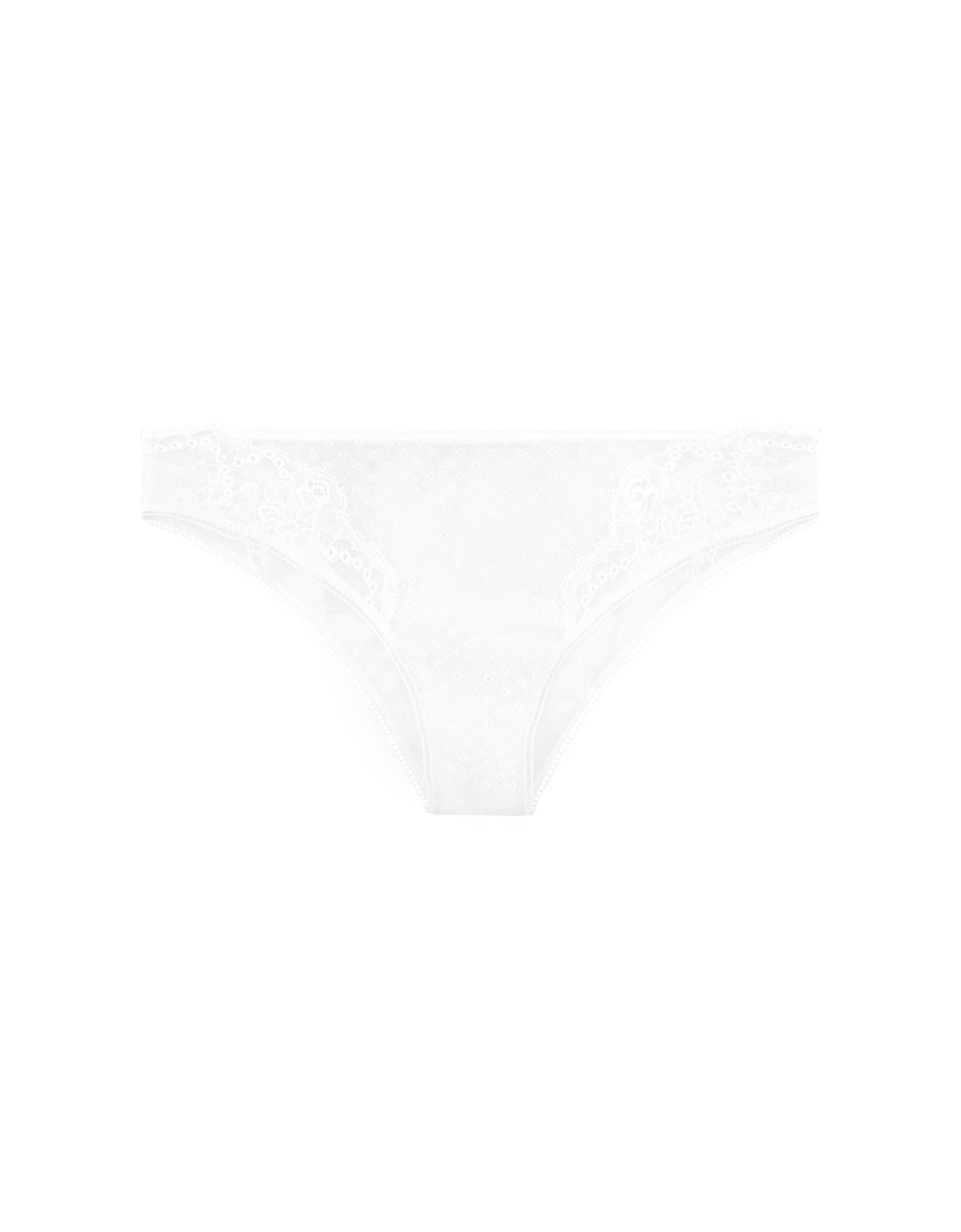 La Perla Panties, Tuberose White Leavers Lace Brazilian Briefs