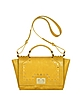 Studded Yellow Leather iPad Bag - Leonardo Delfuoco