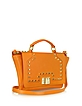 Studded Orange Leather iPad Bag - Leonardo Delfuoco
