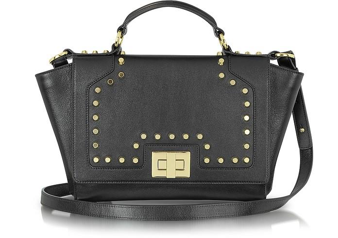 Studded Black Leather iPad Bag - Leonardo Delfuoco
