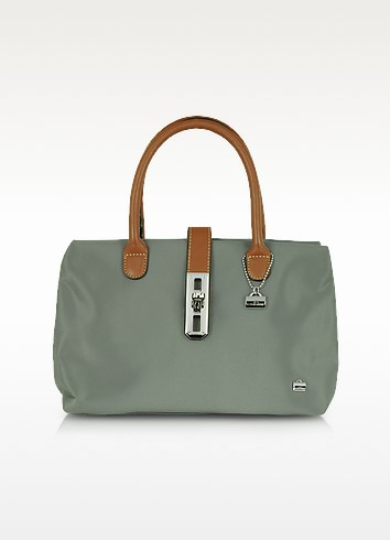 Small Nylon and Leather Tote - La Bagagerie