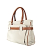 Passy Small Fabric and Leather Tote - La Bagagerie