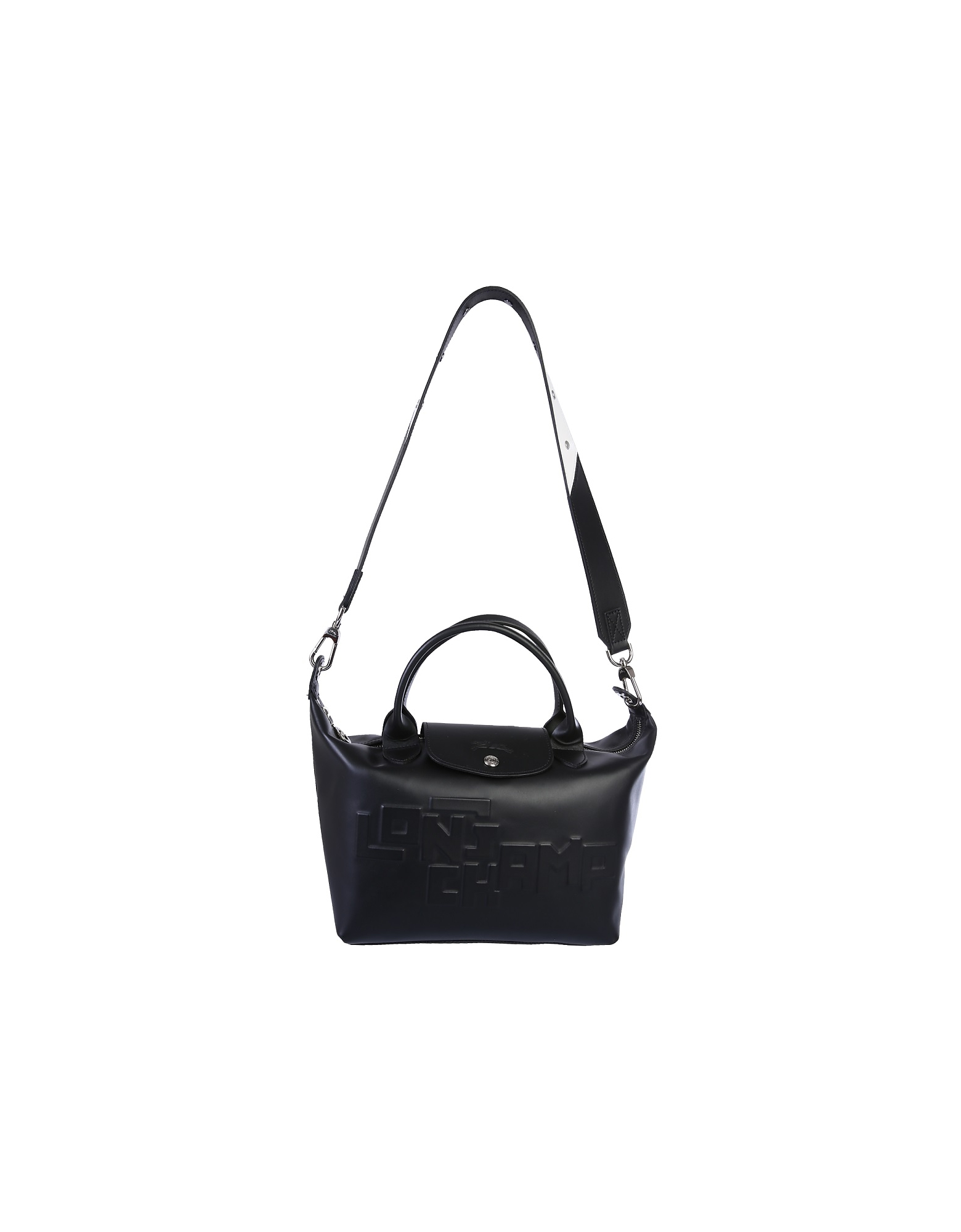Longchamp Designer Handbags, Black Le Pliage Bag