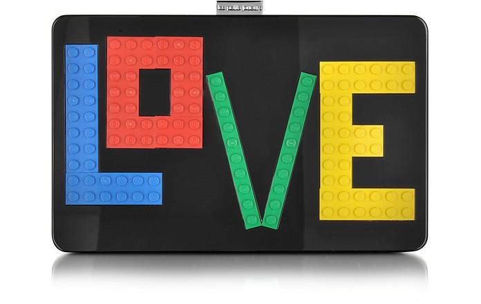 Andy Rainbow Love Black Acrylic Clutch - Les Petits Joueurs