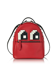 Baby Mick Eyes Red Leather Backpack - Les Petits Joueurs