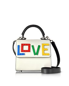 Baby Alex Rainbow Love Pure White Leather Satchel Bag - Les Petits Joueurs
