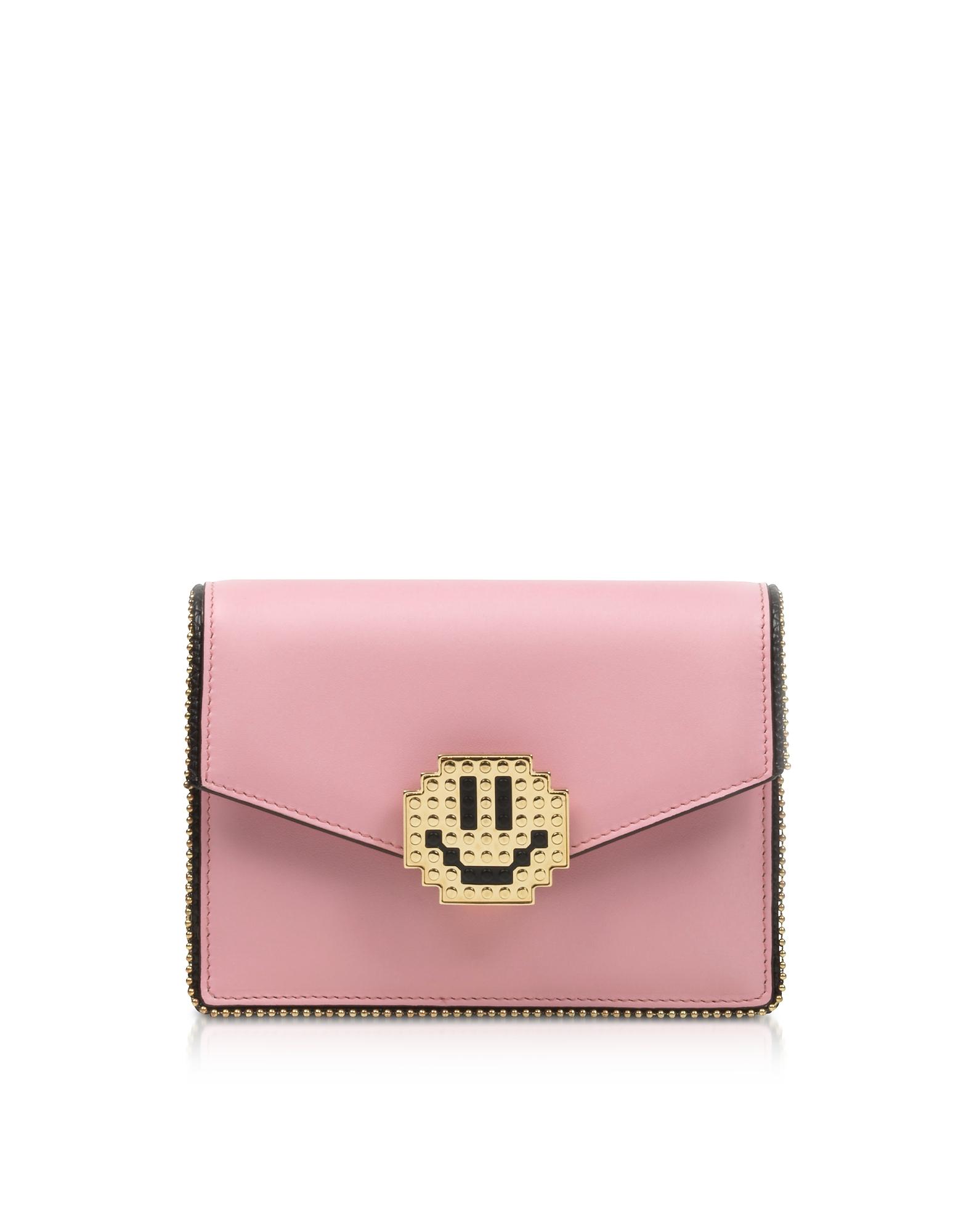 Les Petits Joueurs Handbags, Lulu Metal Smile Clutch