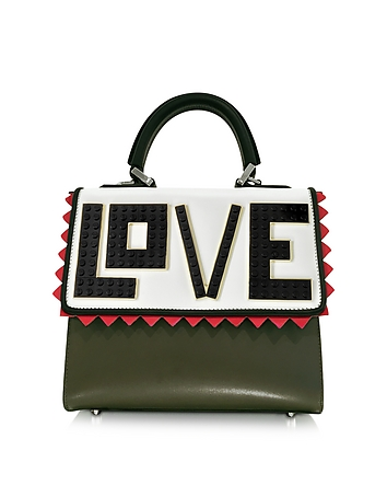 Mini Alex Black Widow Leather Handbag