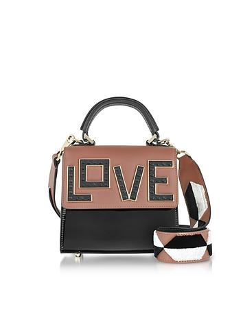 Baby Alex Black Widow Patent Leather Satchel Bag